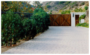 ...down a long, gated driveway