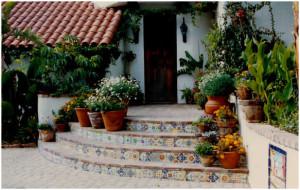 Entrance to the Via Escondido house